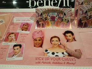 Benefit display in Sephora shared by Twitter user @leynnacyrly Marketing Agency
