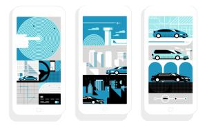 The Uber app, winner of multiple user-experience and design based awards. Digital Marketing. Marketing Agency